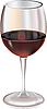 Векторный клипарт: Бокал красного вина