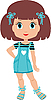 Girl cartoon | Stock Vector Graphics