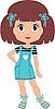 Мультяшная девочка | Векторный клипарт
