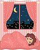 Vector clipart: Pretty girl sleeps