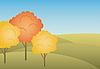 Векторный клипарт: Осенний пейзаж
