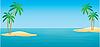 Векторный клипарт: Тропические острова с пальмами