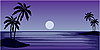 Vector clipart: Tropical beach with palm trees