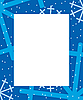 Векторный клипарт: Frame зимой