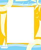 Векторный клипарт: Frame летом