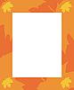Векторный клипарт: Frame осенью