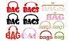 Vector clipart: Word of bag in the form of logotype