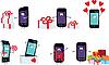 Векторный клипарт: Смартфоны в подарок.