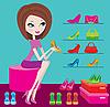 Векторный клипарт: Магазин женской обуви