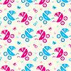 Seamless baby carriages pattern