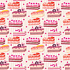 Seamless cake pattern | Stock Vector Graphics