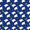 Vector clipart: Seamless sleeping lambs pattern