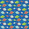 Seamless fish pattern | Stock Vector Graphics