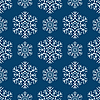 Vector clipart: Seamless snowflakes pattern