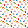 Vector clipart: Seamless shoes pattern