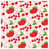 Vector clipart: Seamless fruit pattern