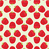 Vector clipart: Seamless strawberries pattern