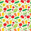 Vector clipart: Seamless vegetables pattern