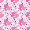 Vector clipart: Seamless hearts pattern