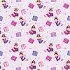 Vector clipart: Seamless fairy pattern