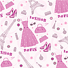 Seamless fashion pattern | Stock Vector Graphics