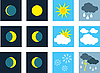 Vector clipart: Weather. Icons