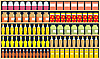 Vector clipart: shelves with food
