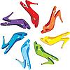 Vector clipart: Females sandals