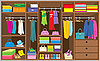 Wardrobe room. Furniture. | Stock Vector Graphics