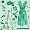 Vector clipart: Paris fashion set