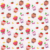 Seamless cupcake pattern | Stock Vector Graphics