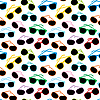 Vector clipart: Seamless sun glasses accessories pattern