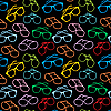 Vector clipart: Seamless sun glasses accessories pattern