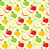 Vector clipart: Seamless apples pattern
