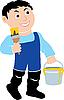 Vector clipart: House-painter.