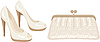 Vector clipart: Female bag and shoes