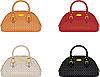 Vector clipart: Designer female bags