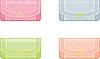Vector clipart: Female handbags in pastel tones
