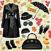 Vector clipart: Autumn fashion set