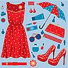 Vector clipart: Fashion set.