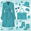 Vector clipart: Autumn fashion set.