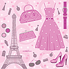 Paris fashion set | Stock Vector Graphics
