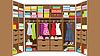 Vector clipart: Wardrobe room. Furniture