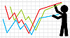 Vector clipart: Symbolical image of lifting of economic indicators.