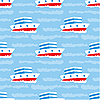 Vector clipart: Seamless ships pattern