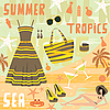 Vector clipart: Fashion set summer clothes