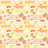 Vector clipart: Seamless tropical pattern
