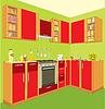 Kitchen furniture. Interior. | Stock Vector Graphics