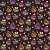 Vector clipart: Seamless cupcake pattern