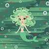 Vector clipart: Mermaid cartoon